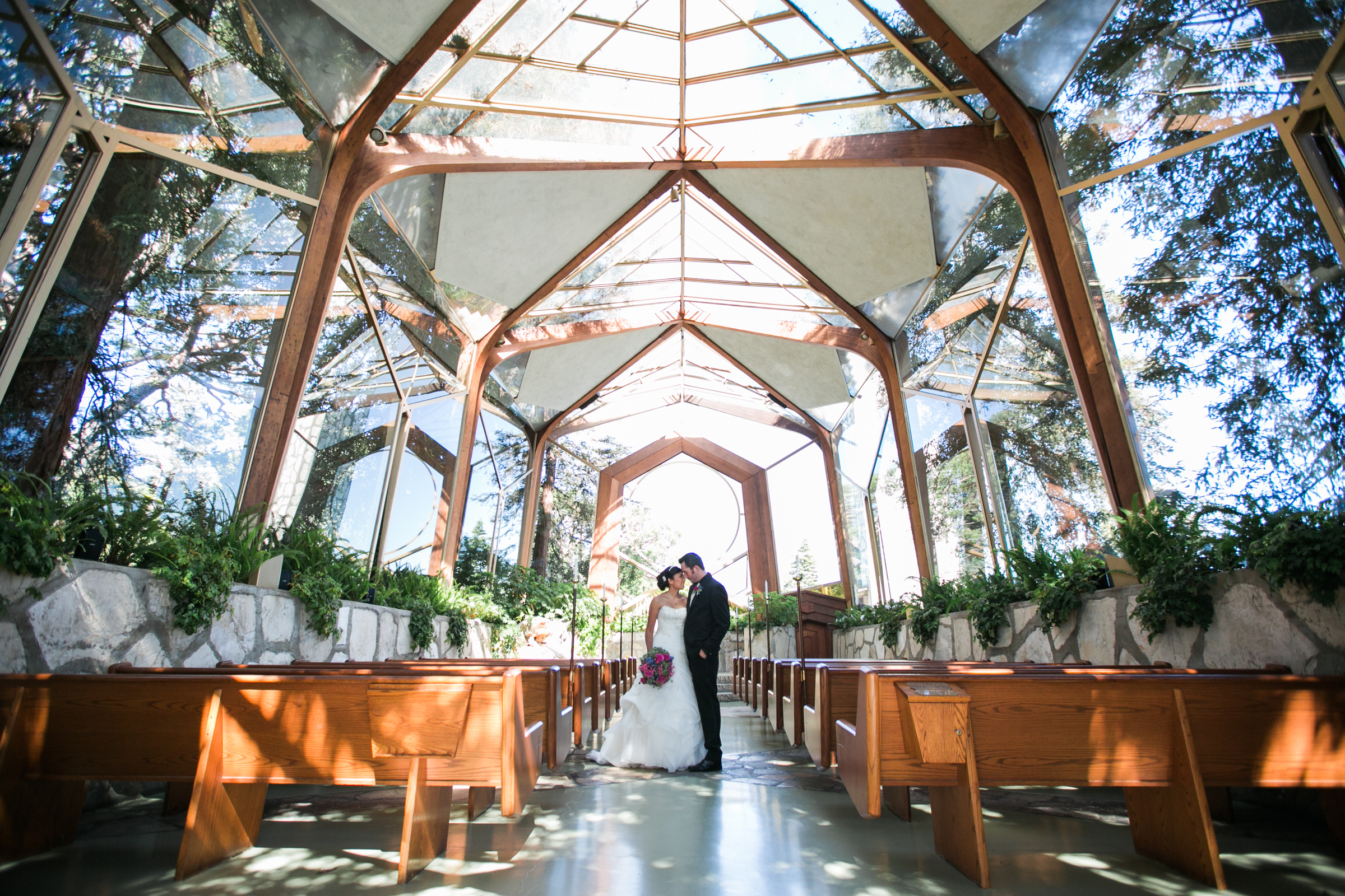 Joshua And Kristina Chose The Most Gorgeous Location For Their Ceremony Wayfarers Chapel In Palos Verdes California It Was A Dream Of Mine To Shoot